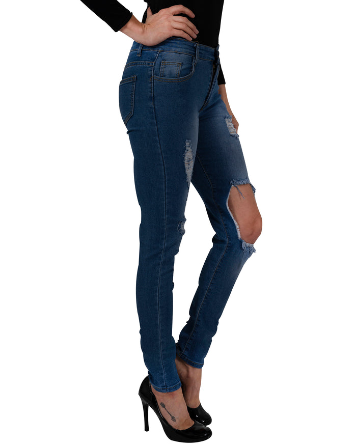 Load image into Gallery viewer, Usher Jeans - womens skinny sexy distressed denim pants