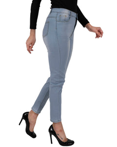 Benedict High Waisted Skinny Jeans - womens classic high waist denim skinny jeans