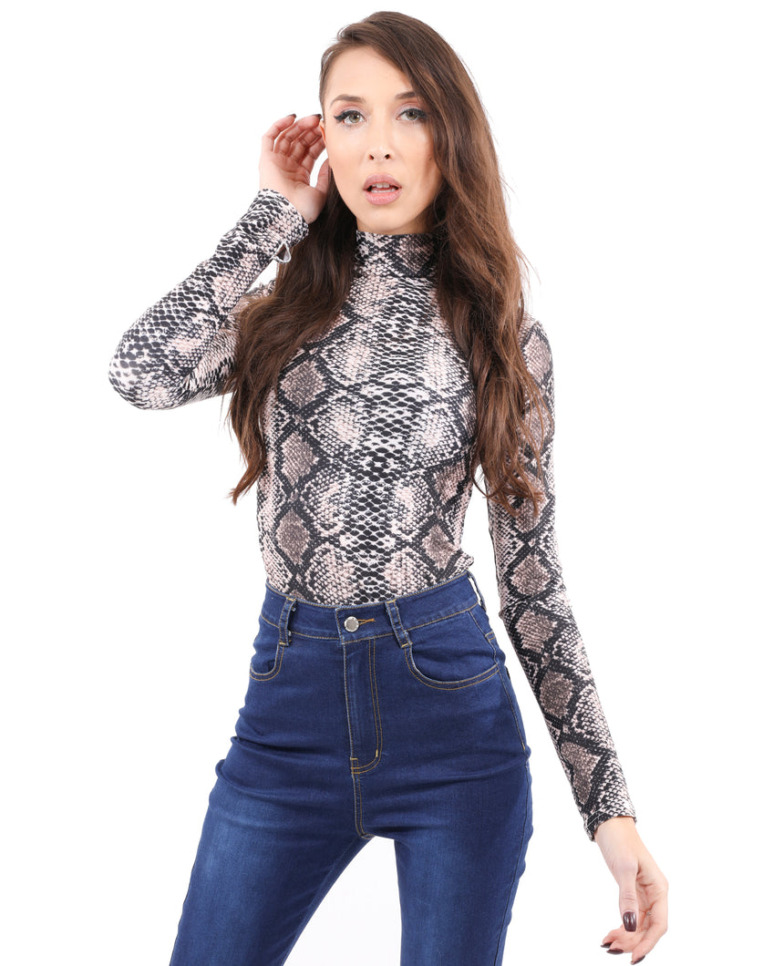 Leslie Animal Print Bodysuit