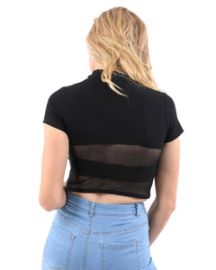 Gregory Short Sleeve Ribbed Crop Top