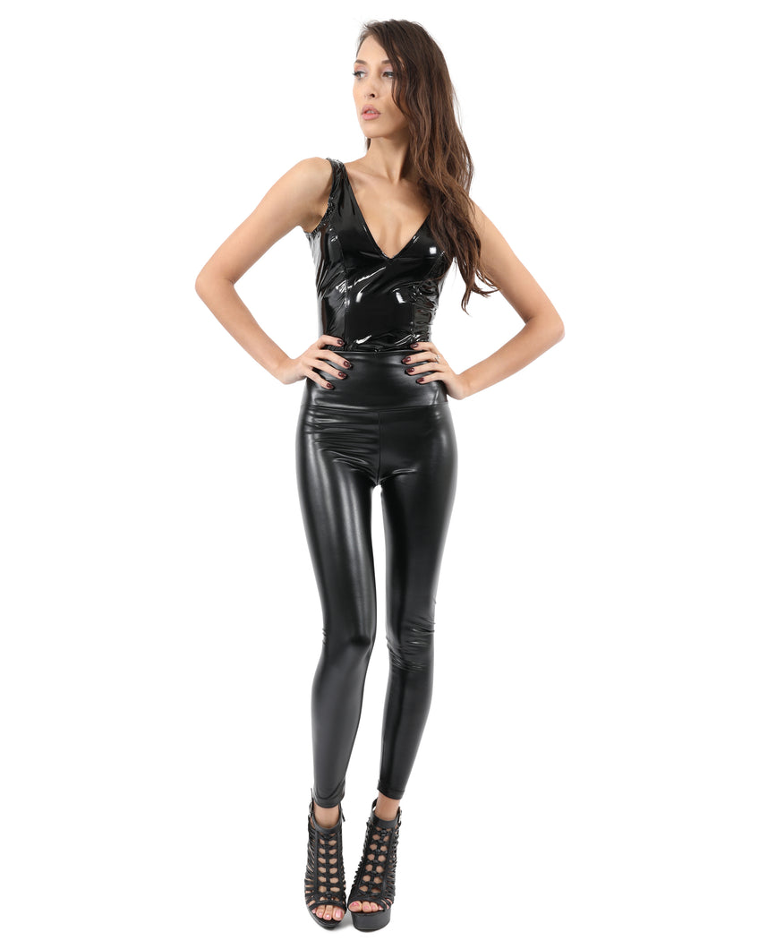 Faux Leather Legging Pant - Black