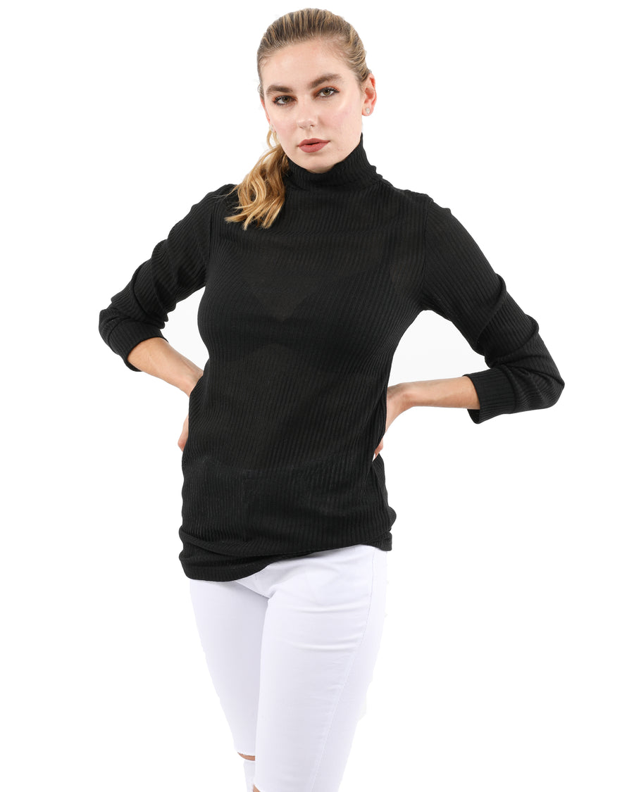 Java Ribbed Turtleneck Top