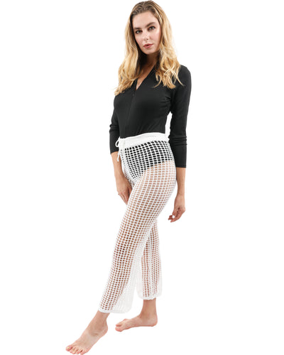 Maybrook Crochet Pant - White