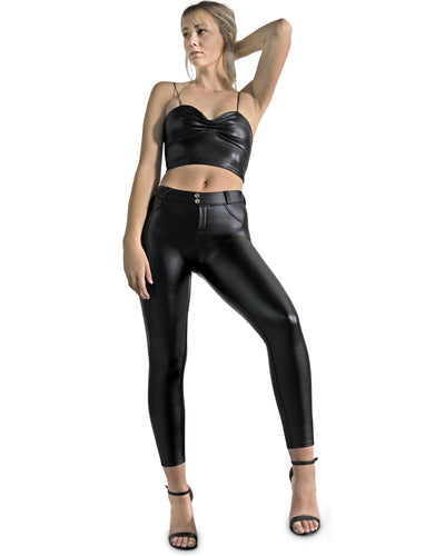 Oak Vegan Leather Pant - Black
