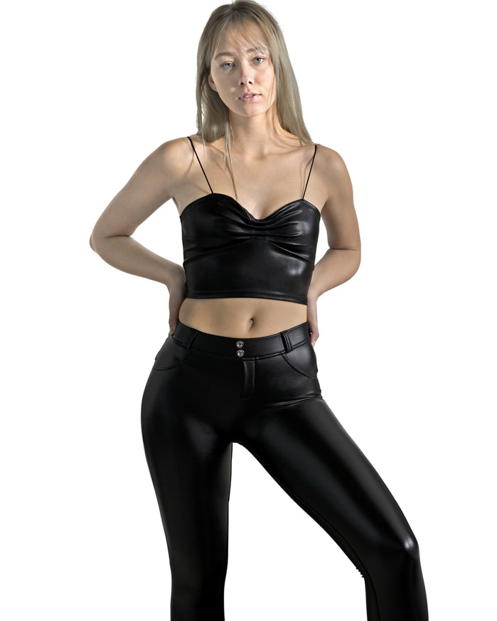 Load image into Gallery viewer, Oak Vegan Leather Pant - Black