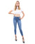 Talus High Waisted Skinny Jeans - Blue