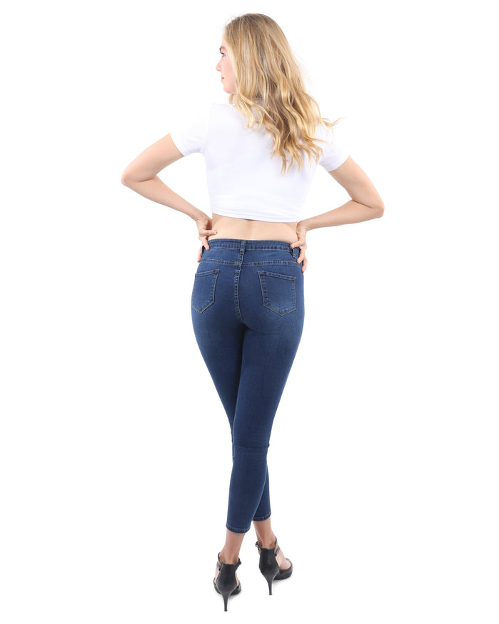 Load image into Gallery viewer, Talus High Waisted Skinny Jeans - Dark Blue