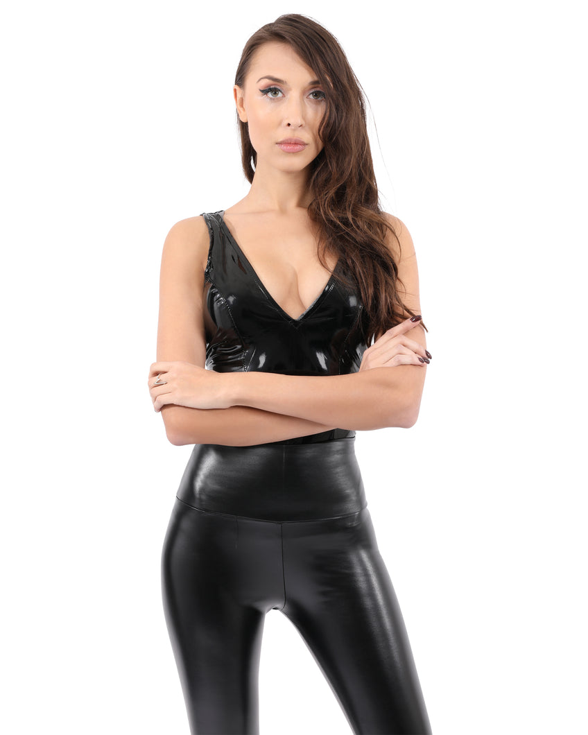 Wanda Patent Leather Bodysuit