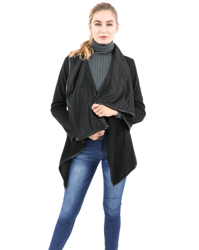 Load image into Gallery viewer, Bowmont Drape Collar Jacket