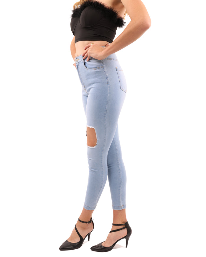 Load image into Gallery viewer, Tullis Distressed Skinny Jean