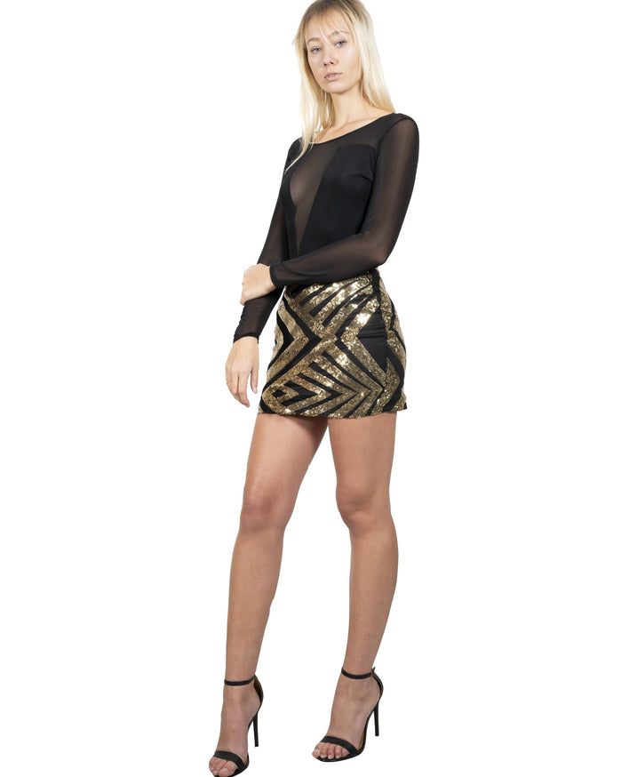 Load image into Gallery viewer, Sutton Sequin Skirt Mini Dress