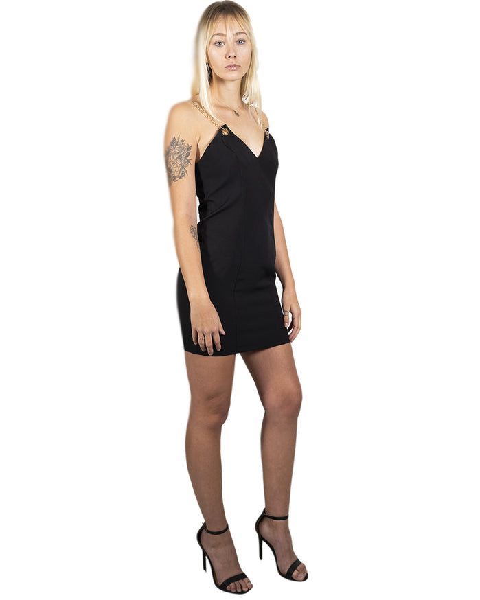 Load image into Gallery viewer, Delresto Mini Dress with Chain Straps
