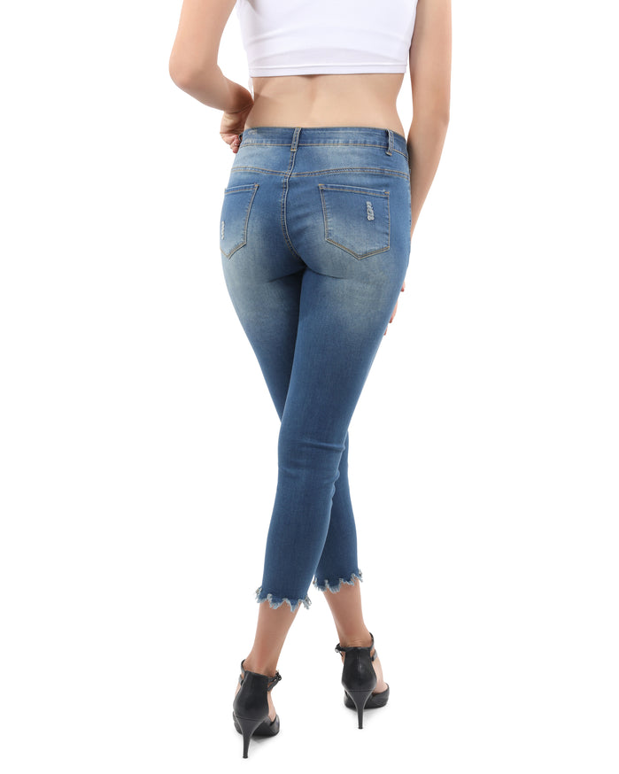 Load image into Gallery viewer, Dayton High Waisted Distressed Jeans