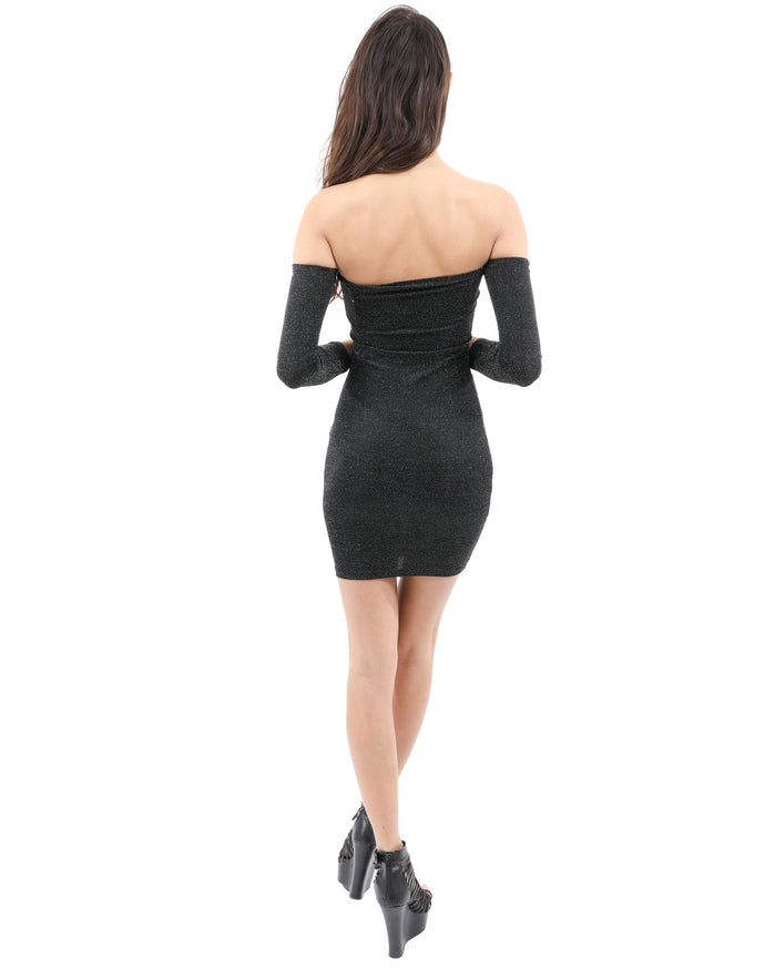 Load image into Gallery viewer, Carla Off-the-shoulder Mini Dress
