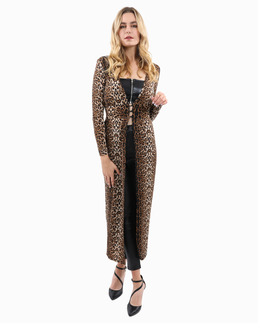 Hastain Leopard Print Coat