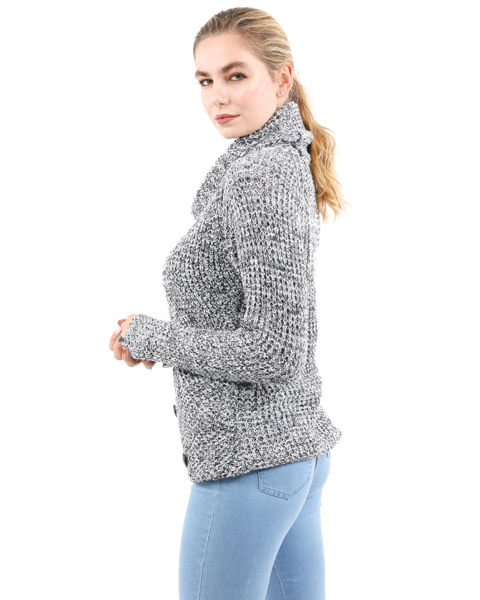 Load image into Gallery viewer, Royston Asymmetric Button-Up Sweater - Grey