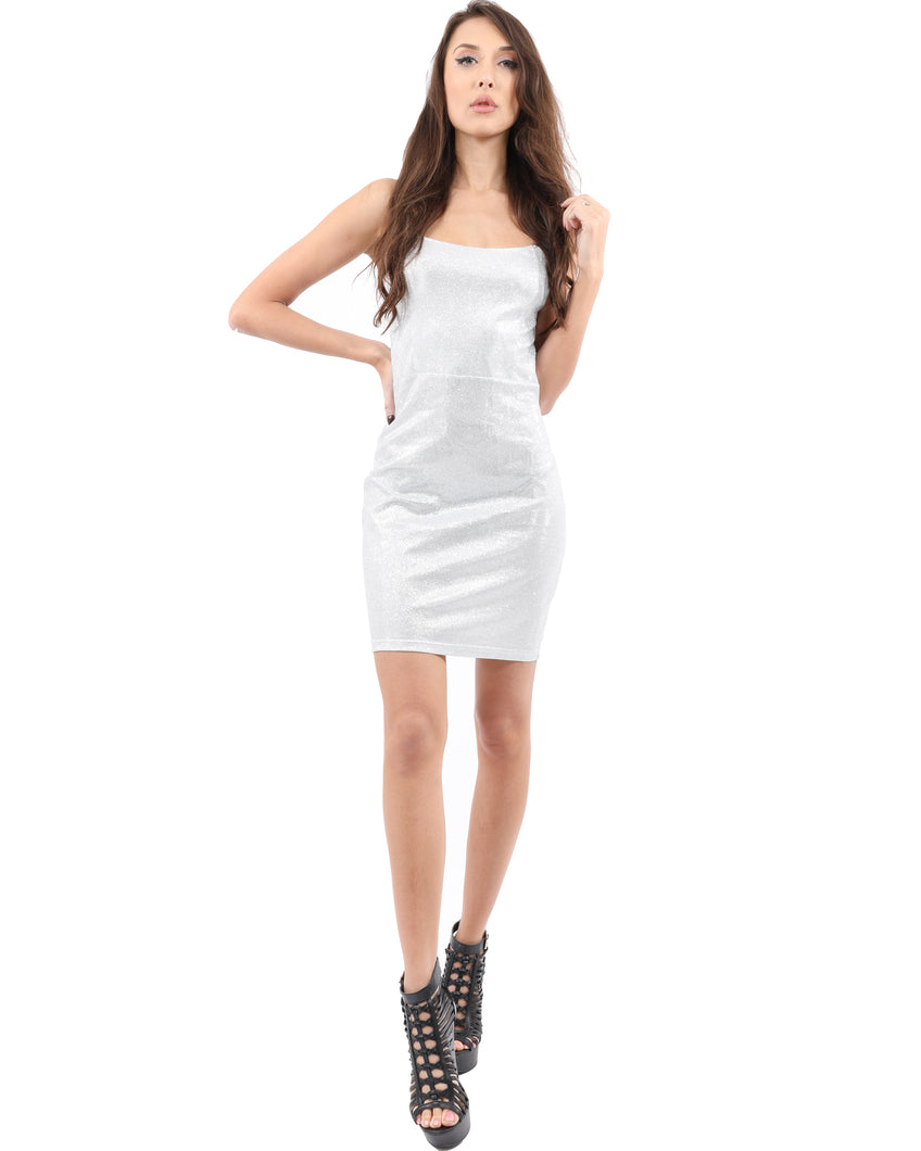 Carmelita Shiny Mini Dress