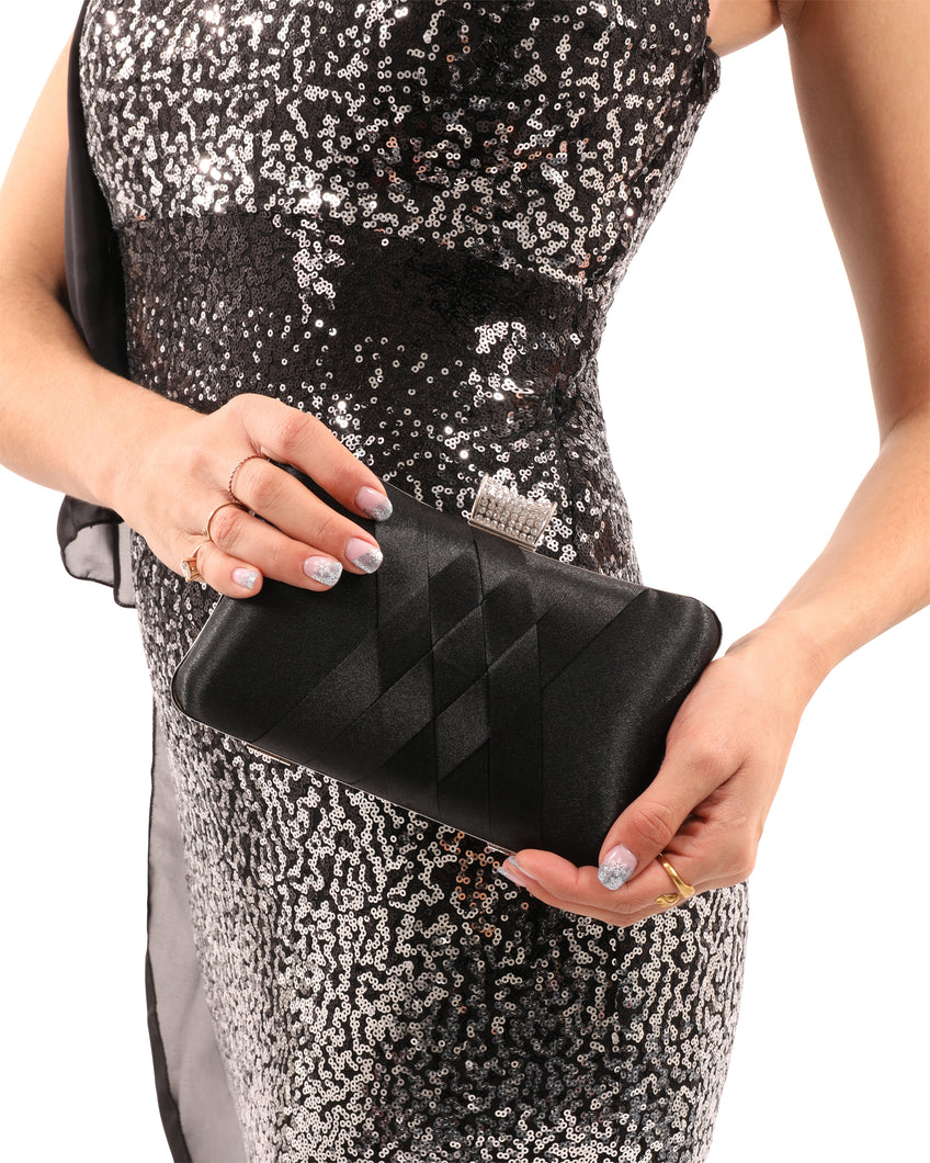 La Altura Small Clutch Black