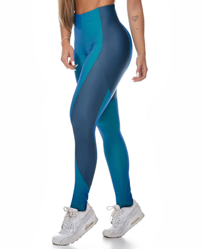 Luxe High-Performance Compression Leggings - Teal - Savoy Active