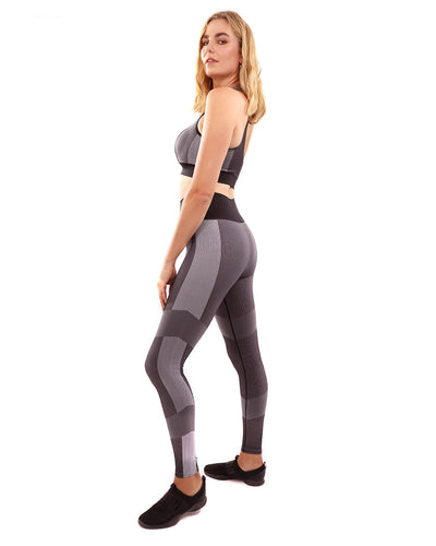 Arleta Seamless Leggings & Sports Bra Set - Black