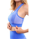 Arleta Seamless Sports Bra - Blue