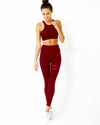 Ashton Sports Bra - Maroon - Savoy Active