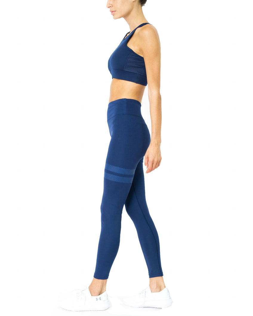 Ashton Set - Sports Bra & Leggings - Navy Blue - Savoy Active