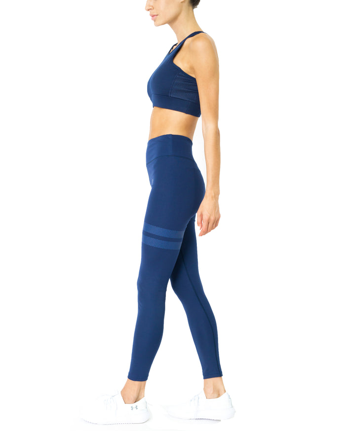 Load image into Gallery viewer, Ashton Set - Sports Bra & Leggings - Navy Blue - Savoy Active