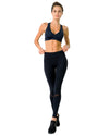 Athletique Low-Waisted Ribbed Leggings With Hidden Pocket and Mesh Panels - Savoy Active