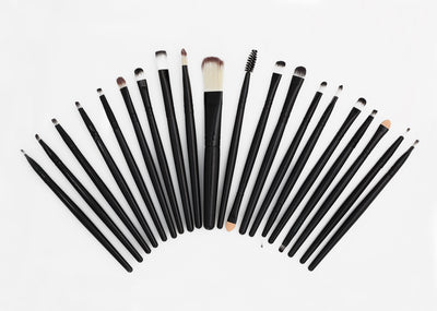 Zaina Makeup Brush Set - Black