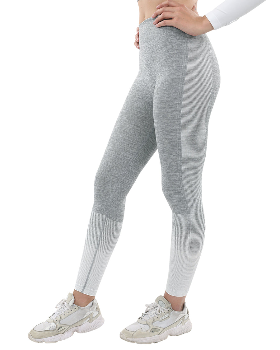 Bocana Seamless Leggings - Grey & White