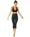 High Waisted Yoga Capri Leggings - Slate Grey - Savoy Active