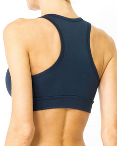 Helo Racerback V-Neck Athletic Sports Bra - Black - Savoy Active