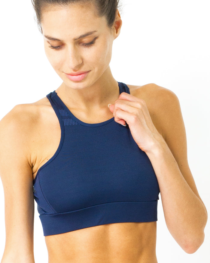 Load image into Gallery viewer, Ashton Sports Bra - Navy Blue - Savoy Active