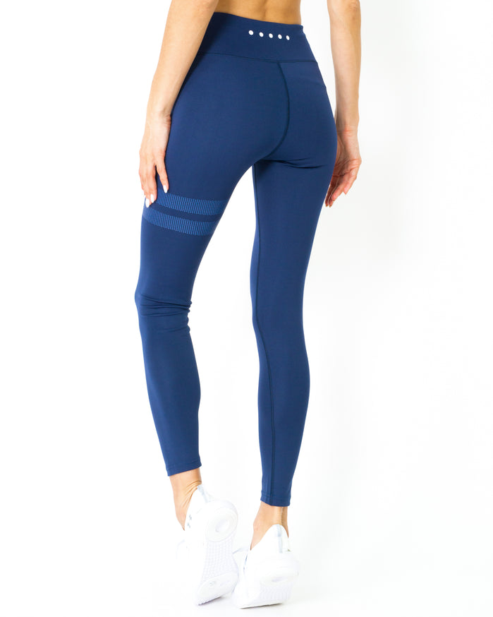 Load image into Gallery viewer, Ashton Leggings - Navy Blue - Savoy Active