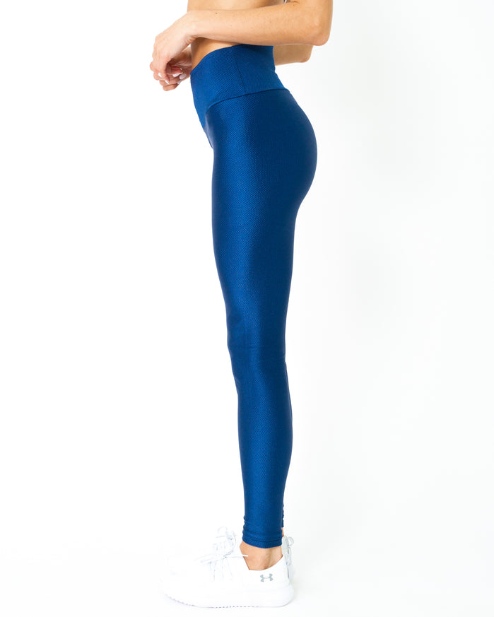 Load image into Gallery viewer, Nova Glam Body Sculpting Leggings - Navy Blue - Savoy Active
