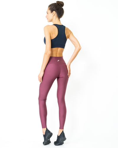 Classica Sculpted Shine Leggings with Sweat Wicking Elastic Fabric - Savoy Active