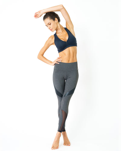 Fantastica Compression Leggings with Supplex Fabric and Cut-Out Mesh Panels - Savoy Active