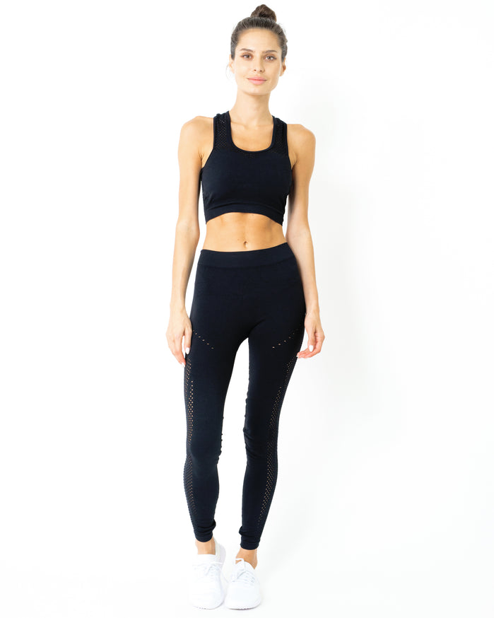 Load image into Gallery viewer, Milano Seamless Legging - Black - Savoy Active