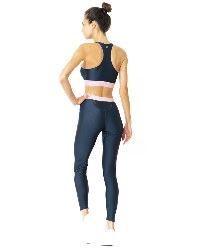Load image into Gallery viewer, Hudson Two Piece Workout Set - Sports Crop Bra and Mid Rise Leggings - Savoy Active