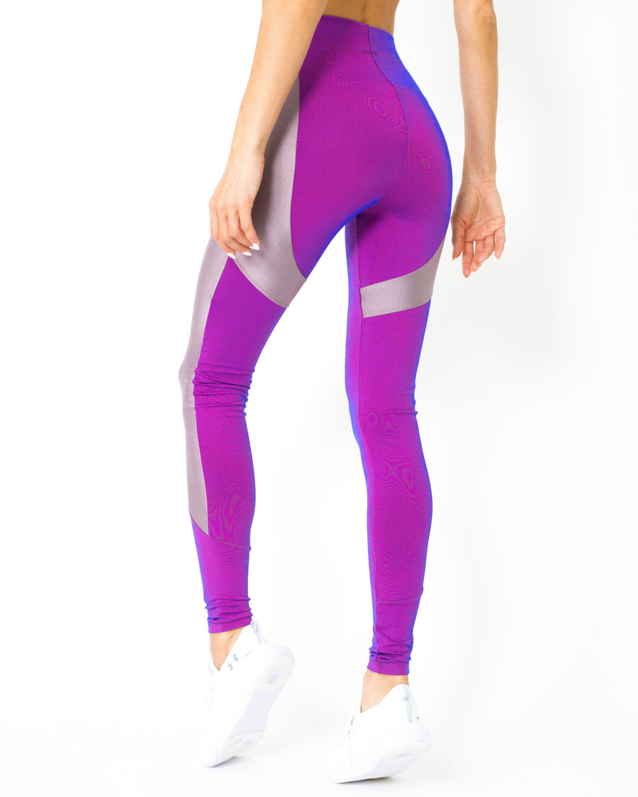 Luxe High-Performance Compression Leggings - Purple - Savoy Active