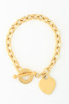 Kanika Heart & Cross Bracelet - Gold
