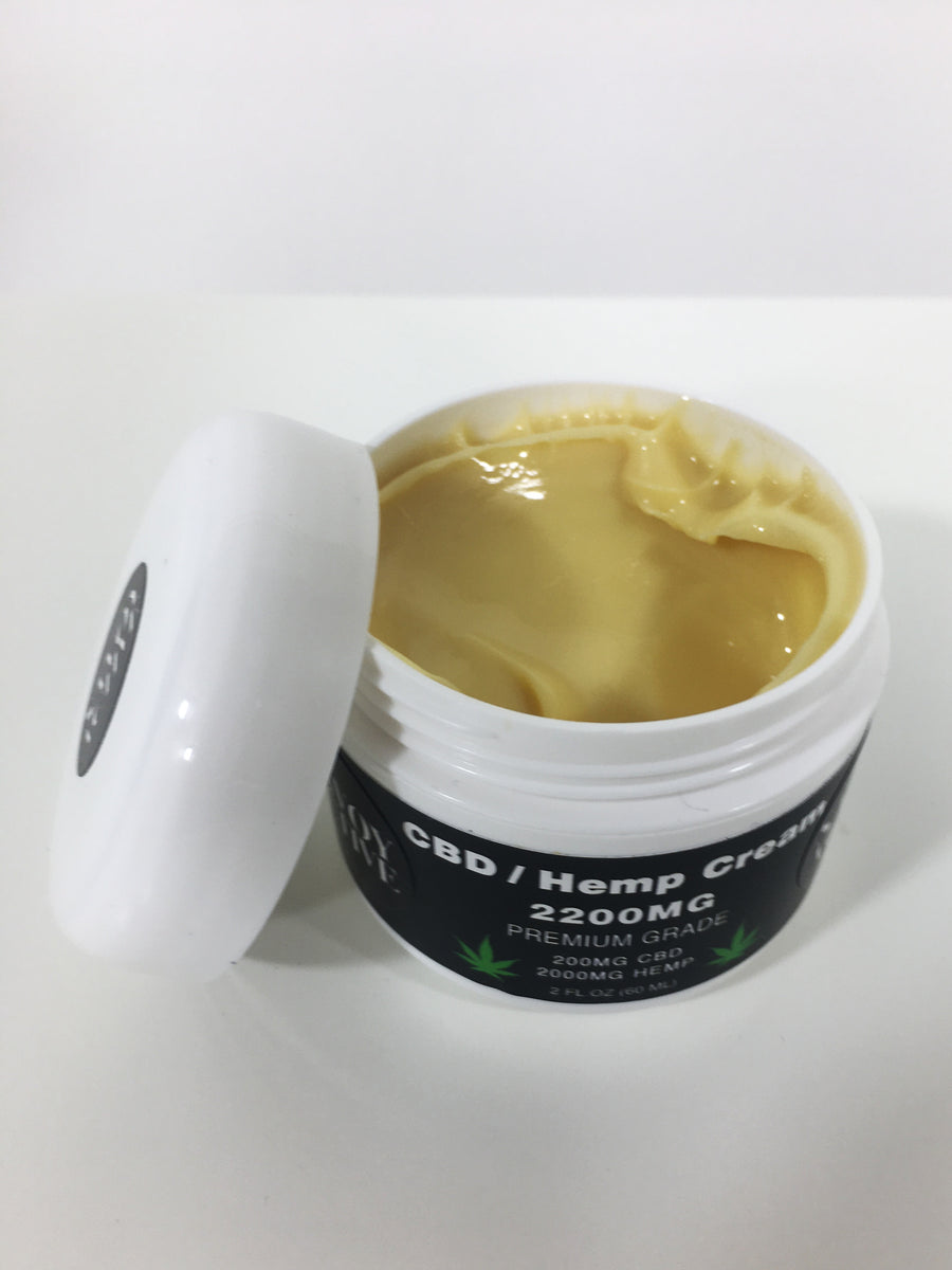 CBD / Hemp Cream - Premium Grade - 100% Natural - 200MG CBD - 2000MG Hemp - 2 FL.OZ (60 ML)