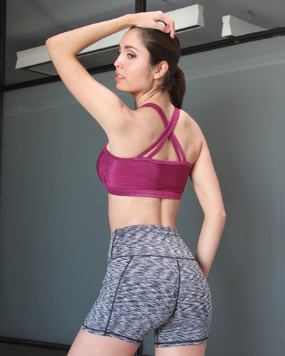 Deleria Sports Bra - Purple