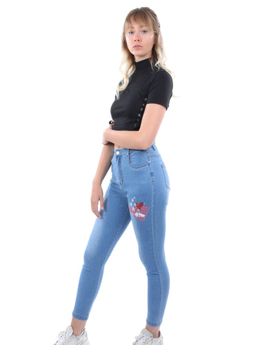 Benedict Skinny Jeans With Marilyn Monroe Heart Decal