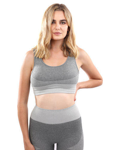 Isalda Seamless Sports Bra - Grey