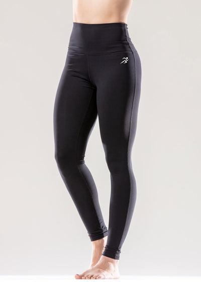 Puissante High-Waisted Full-Length Black Leggings - Savoy Active