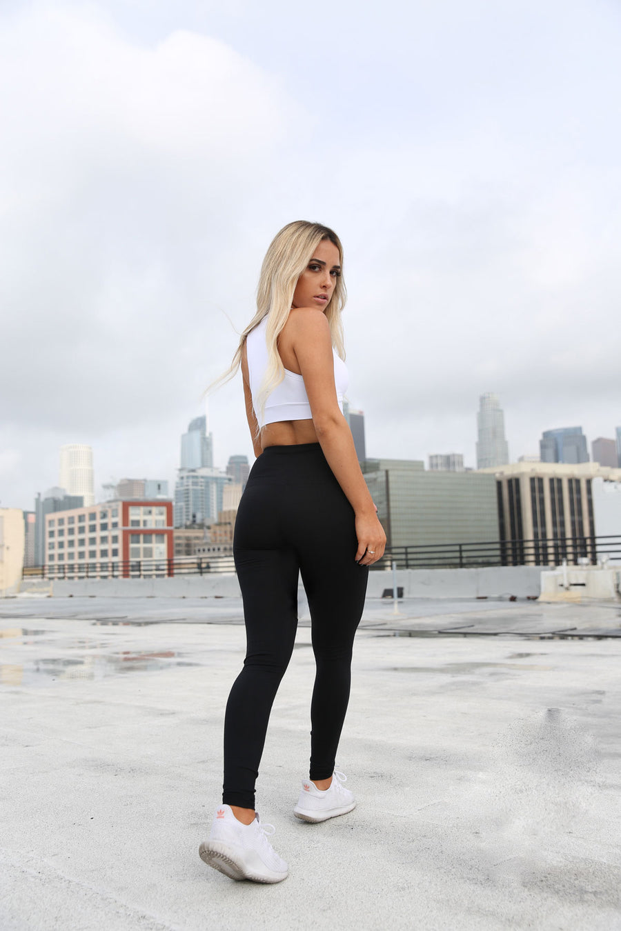 Puissante High-Waisted Full-Length Black Leggings
