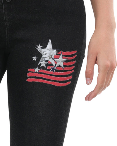 Wilshire Skinny Jeans With Marilyn Monroe 7 Star Decal