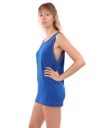 Padua Tank Top - Blue [MADE IN ITALY]